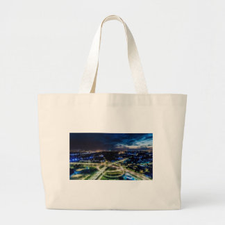 Riga Night Skyline Large Tote Bag