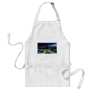 Riga Night Skyline Standard Apron