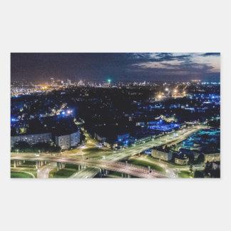Riga Night Skyline Sticker