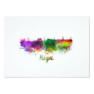 Riga skyline in watercolor card