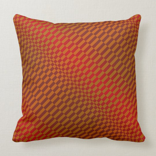 Rigel Red Throw Pillow