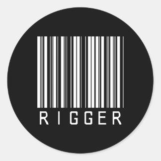 Rigger Bar Code Round Sticker
