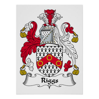 Riggs Family Crest Poster