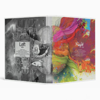 Right and Left Brain Vinyl Binders
