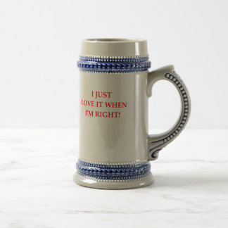 RIGHT BEER STEIN