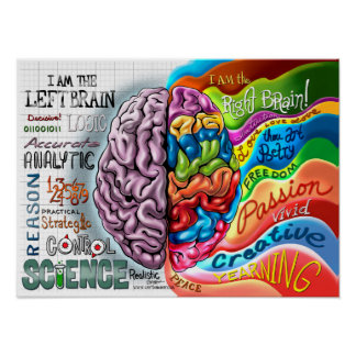 Right Brain Left Brain Poster