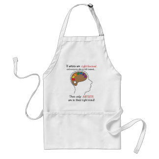Right-Brained Art Apron