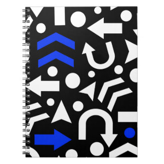 Right direction - blue spiral notebook