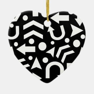 Right direction ceramic heart ornament