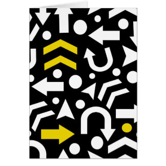 Right direction - yellow card