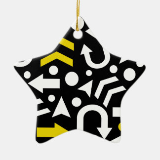 Right direction - yellow ceramic star ornament