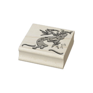 Right Facing Merrymaker Kokopelli Artwork Rubber Stamp