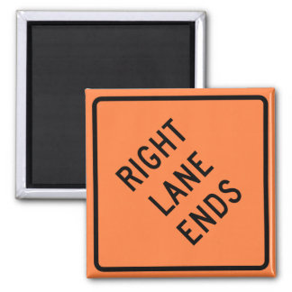 Right Lane Ends Construction Highway Sign Magnet