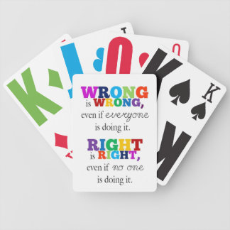 Right & Made a mistake Poker Deck