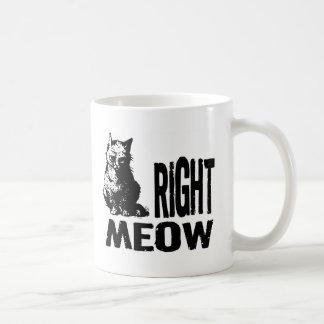 Right MEOW! Funny Evil Kitty Mug