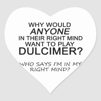Right Mind Dulcimer Heart Sticker