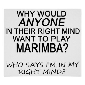 Right Mind Marimba Poster
