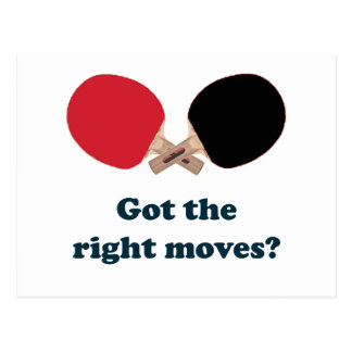 Right Moves Ping Pong Postcard
