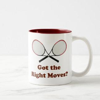 Right Moves Tennis Two-Tone Coffee Mug