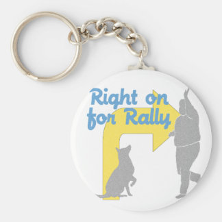 Right On For Rally Keychain