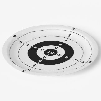 Right on Target - Party Paper Plates 9 Inch Paper Plate