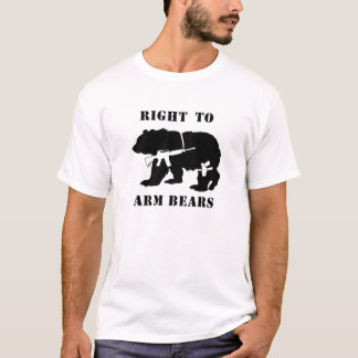 right to arm bears white T-Shirt