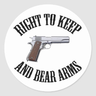 Right To Keep And Bear Arms 1911 Round Sticker