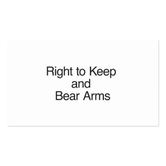 Right to Keep and Bear Arms Business Card Template
