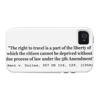 Right to Travel Kent v Dulles 357 US 116 125 1958 iPhone 4/4S Covers