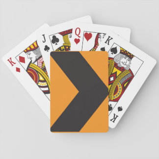 Right Turn Road Sign Playing Cards