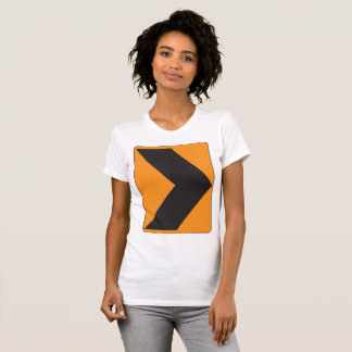 Right Turn Road Sign Womens T-Shirt