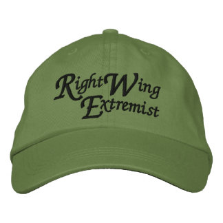 Right Wing Extremist Embroidered Baseball Caps