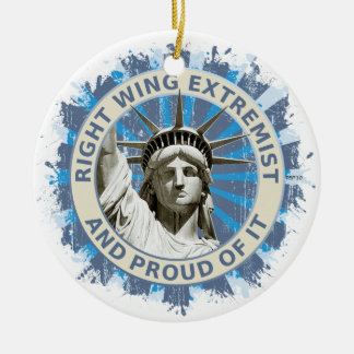 Right Wing Extremist Round Ceramic Ornament