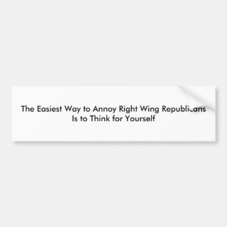 Right Wingers Bumper Sticker