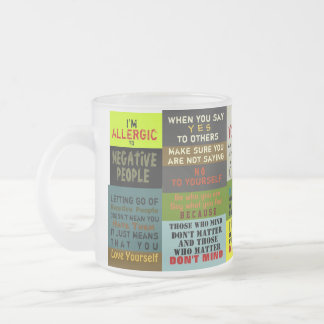 RIGHT WORDS ~ Frosted Glass Mug / TRUISM