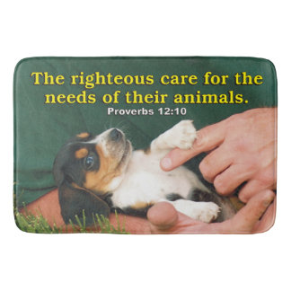 Righteous Care For The Needs Of Their Animals Bath Mat