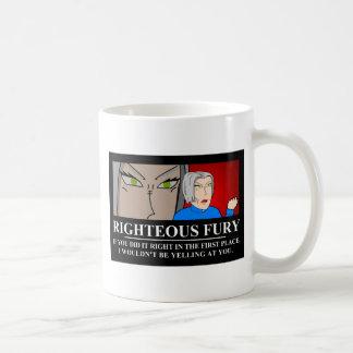Righteous Fury Demotivator Classic White Coffee Mug