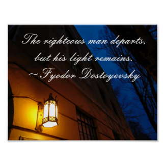Righteous Man Dostoyevsky Quote Poster