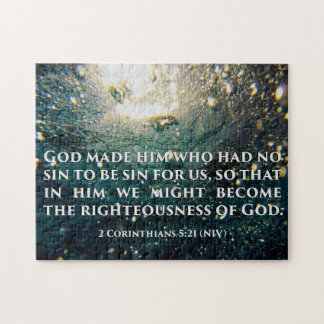 Righteous of God 2 Corinthians 5:21 Scripture Art Jigsaw Puzzle