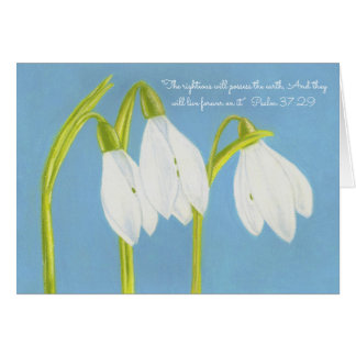 Righteous Possess Earth Forever~Snowdrops Card