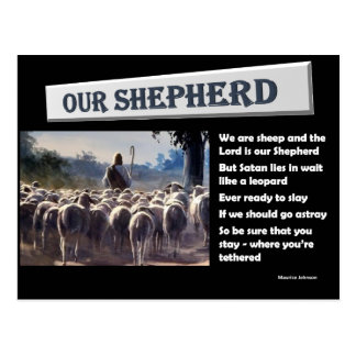 RIGHTEOUS RHYMES - Our Shepherd - Postcard