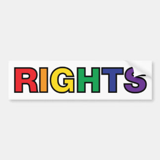 RIGHTS vertical design Bumper Sticker