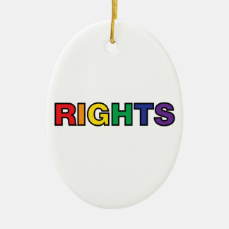 RIGHTS vertical design Ceramic Oval Ornament