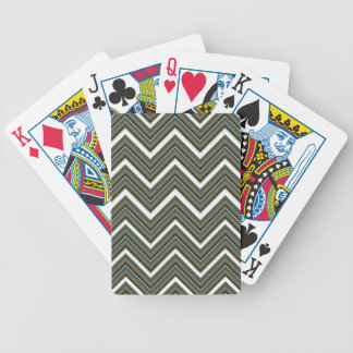 Rigid Wedged Chevrons Bicycle Playing Cards