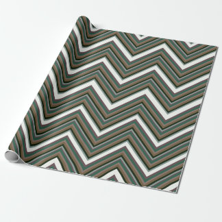Rigid Wedged Chevrons Wrapping Paper