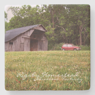 Rigsby Homestead Kentucky Stone Beverage Coaster