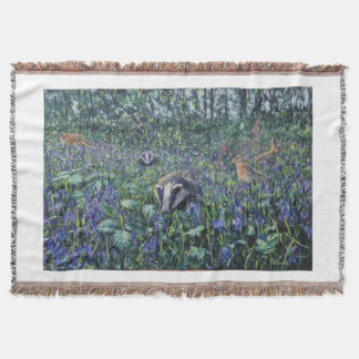Rigsby Wood Badgers Throw Blanket