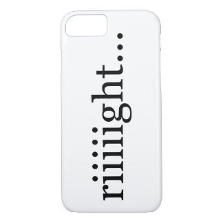 Riiiight… Un-motivational shirt. iPhone 8/7 Case