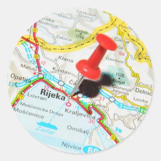 Rijeka, Croatia Classic Round Sticker