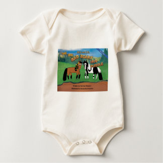 Riki and J.R.The Big Bad Scary Mud Puddle Horse Baby Bodysuit